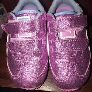 Toddler Pink Glitter Pumas 7c